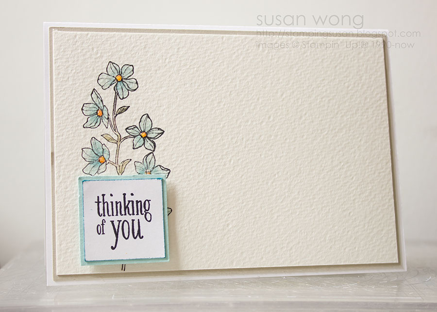 Susan Wong. Peaceful Petals Thinking of You Card.