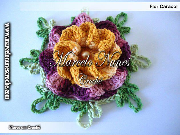 Flor Caracol Croche   Po A Po