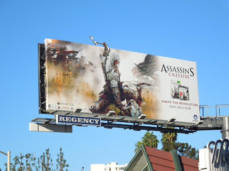 Assassins Creed III video game billboard