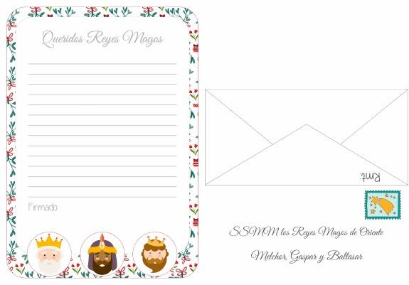 Worksheet. Nia Bonita Imprimible Carta para los reyes magos