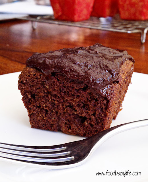 Chocolate Coconut Mini Cakes © www.foodbabylife.com