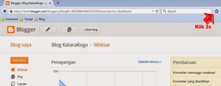 Cara Masuk Blogspot Dan Bookmark Dashboard Blogspot Blog