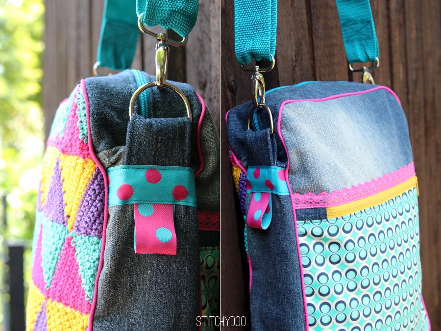 Taschenspieler 2 Sew Along | Herrentasche von stitchydoo mit gehaekeltem Triangle-Muster