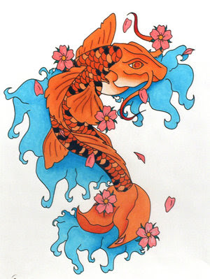 Koi fish tattoos for girls come in beautiful designs