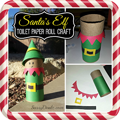 elf toilet paper roll craft