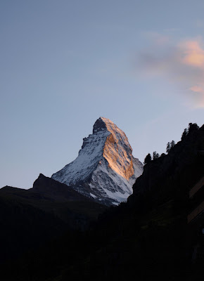 Matterhorn north face from Zermatt