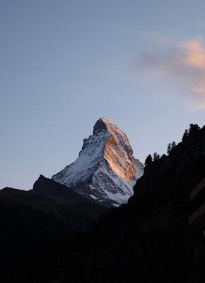 Matterhorn north face from Zermatt