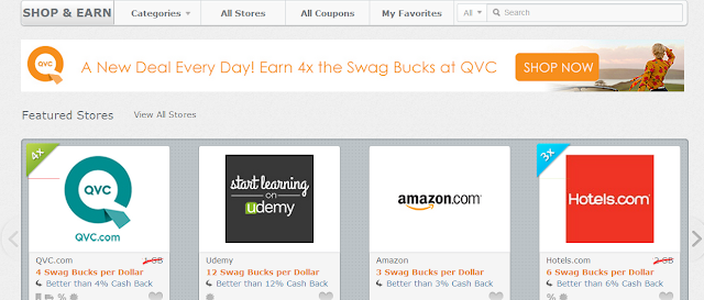 Make Money Online: Swagbucks Shop