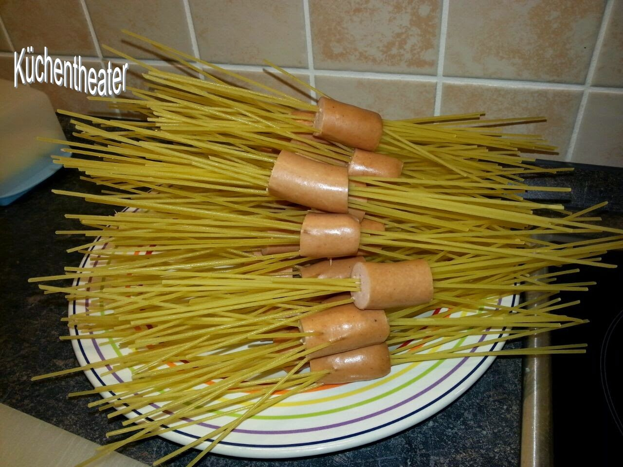 K chentheater spaghetti spinnen kochen f r kinder - Kochen fur kinder thermomix ...