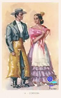 Traje típico de Córdoba - Editorial Artigas 1940 - Diseño: Tuser