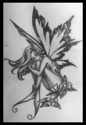 Fairy Tattoos on Black And White Fairy Tattoos