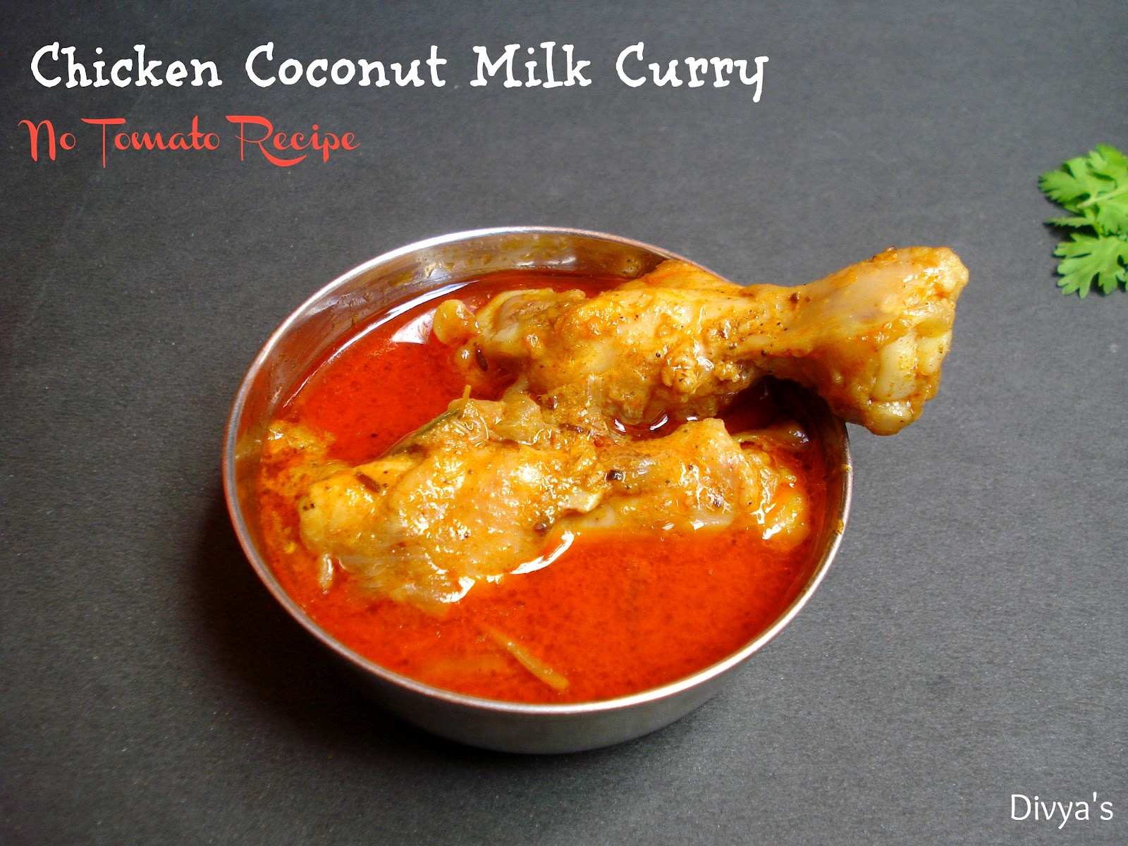 Lip-smacking and delicious chicken coconut milk curry is now ready ...