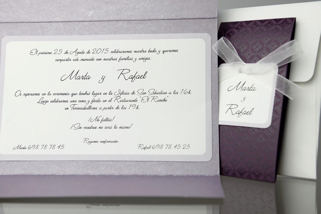 INVITACIÓN DE BODA 34930 CARDNOVEL