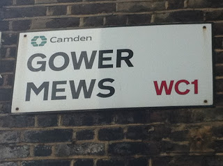 Street sign, Gower Mews, London WC1