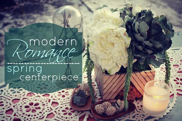 Eat sleep make craft modern romance spring centerpiece