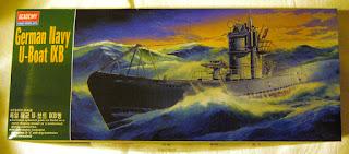 maqueta de submarino de la segunda guerra mundial U-boat IXB