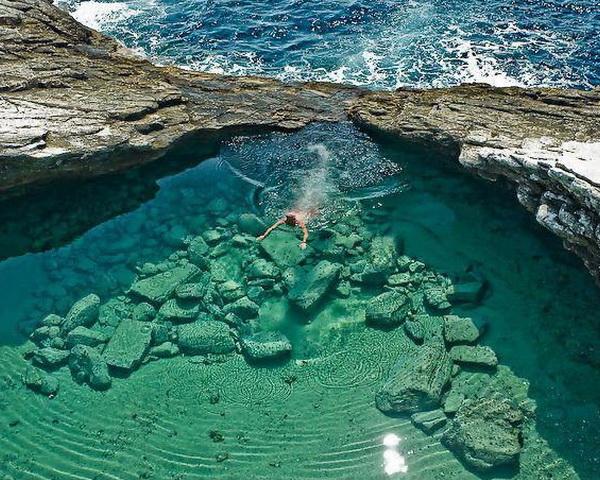 Laguna Giola in Thassos, Greece