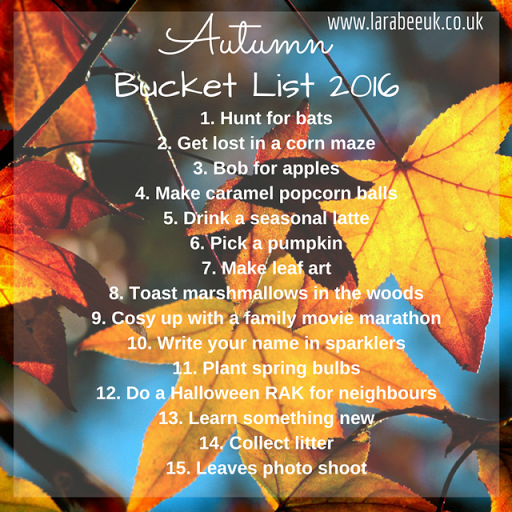 Our Autumn Bucket List Posts