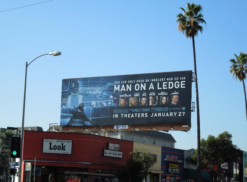 Man on a Ledge movie billboard