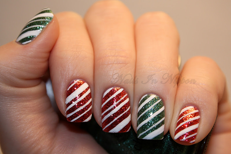 ... Marketta and Carolina did for candy cane nails if you haven't already