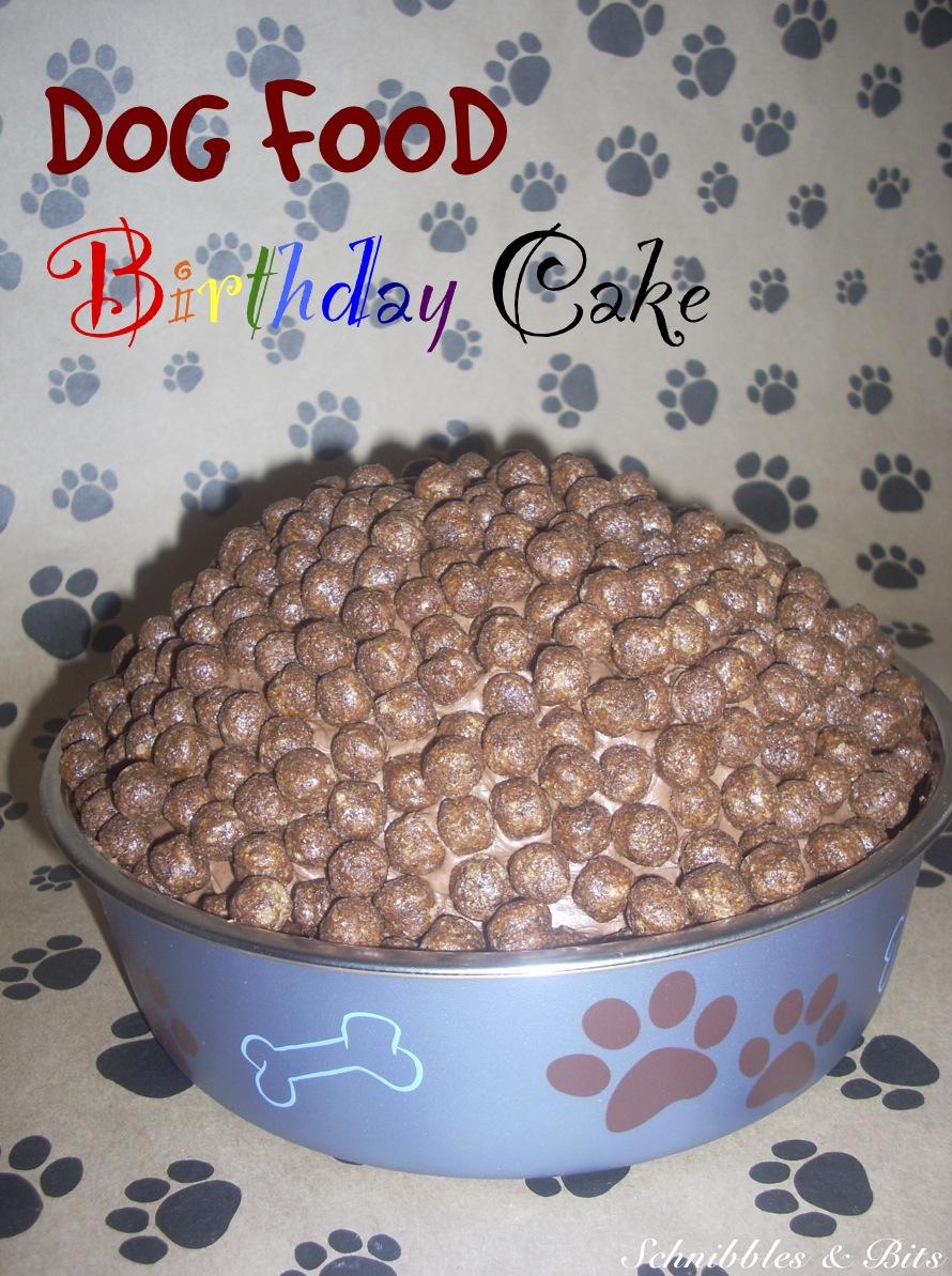 Schnibbles Bits Dog Food Birthday Cake