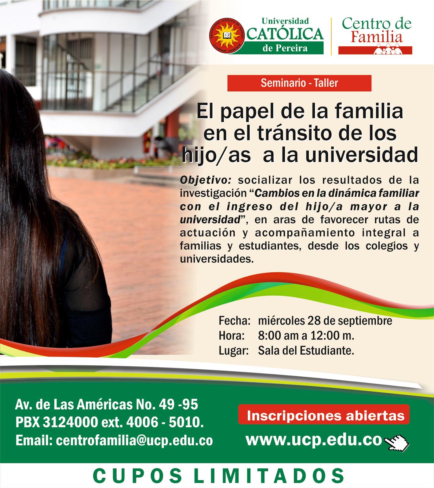 Taller: El Papel de la Familia en el tránsito de los hijos/as a la Universidad