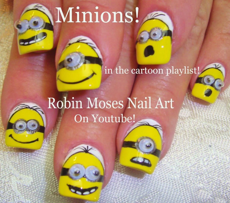Robin moses nail art minion nails minion nail art minion nail art tutorials diy cartoon nails nail art logos and faces on nails nails ideas for beginners and up prinsesfo Images