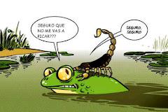 """""""Está en su naturaleza"""" La fábula del escorpión y la rana"""
