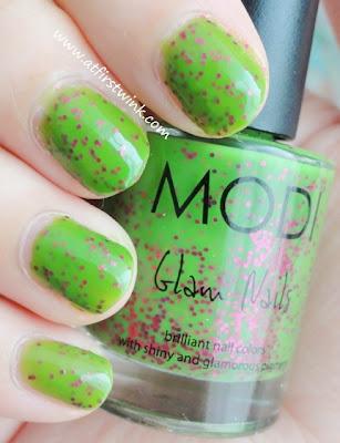 Modi nail polish 77 - Pinky Green