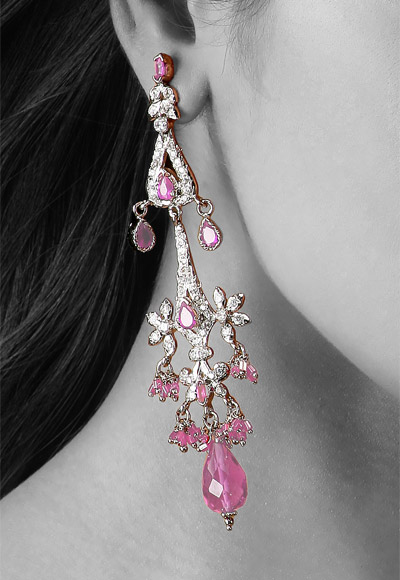 pink peach earrings beauty blossom blooming earring grand grande products