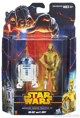 Hasbro Star Wars Mission Series: Tantive IV - C-3PO & R2-D2 Figures