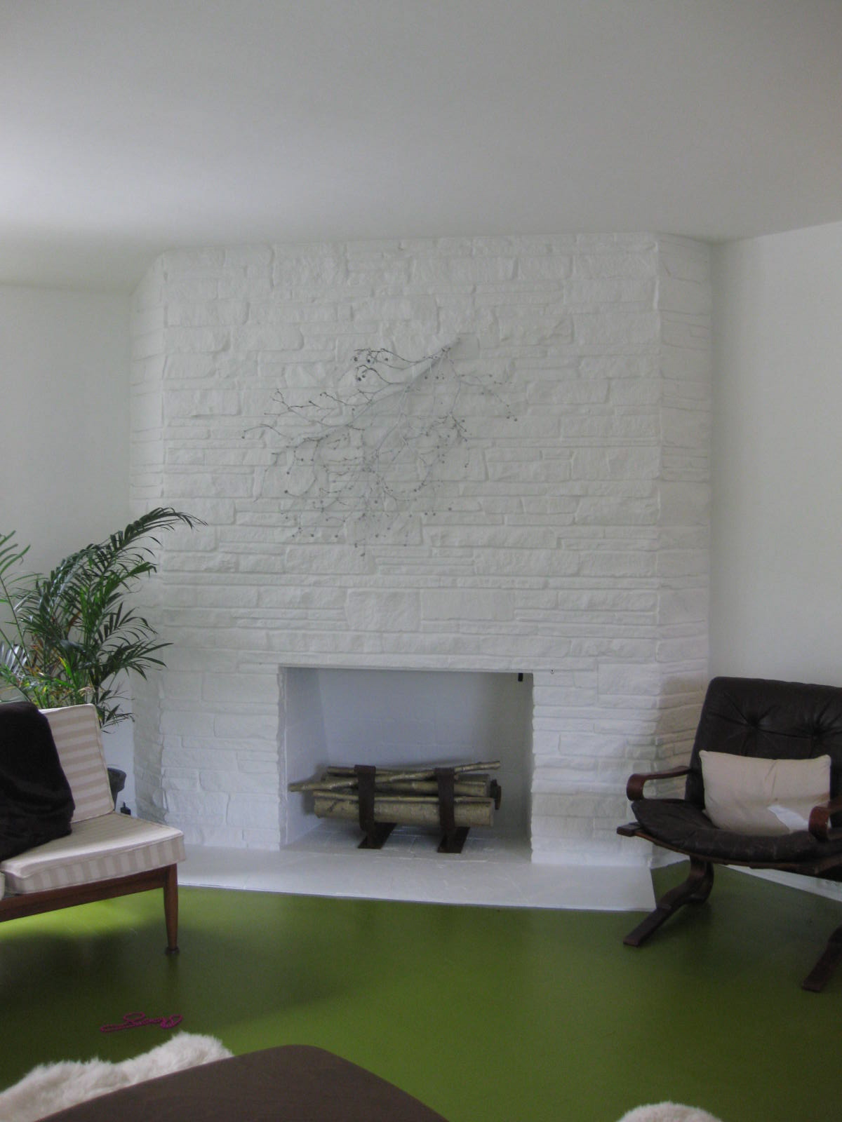 Alexandra Hedin Archive: House Projects :: Painted Fireplace