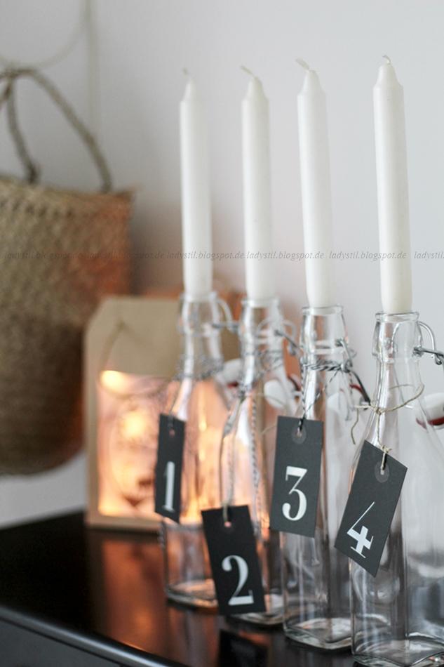 Lichterhaus aus Papiertüte leuchtet mit Lichterkette DIY Upcycling Weihnachten