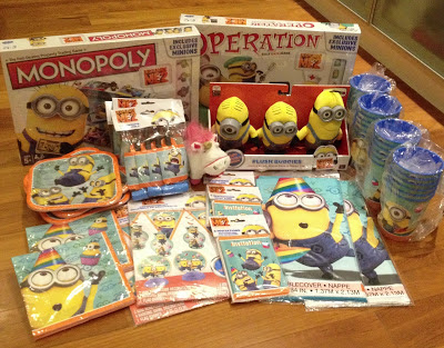 Brendan's Minion birthday party preparations