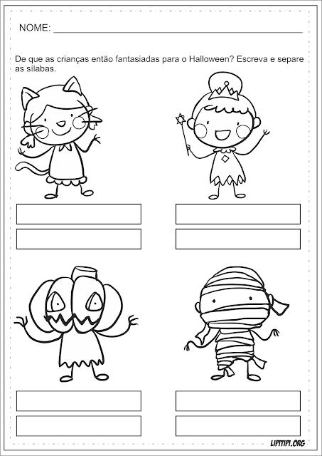 Separação de Sílabas Atividade Halloween