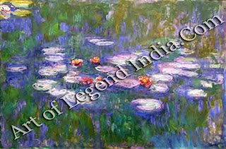 "The Great Artist Claude Monet Painting ""Waterlilies"" 1916-1926 781/4"" x 1671/4"" St Louis Art Museum, Missouri"
