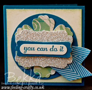 You Can Do It card by UK Stampin' Up! Demonstrator Bekka - check her blog for lots of cute ideas!