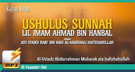 Kajian Kitab Ushulus Sunnah Lil ImamAhmad bin Hanbal