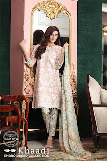Khaadi Embroidered Winter Dresses 2016-2017 For Women