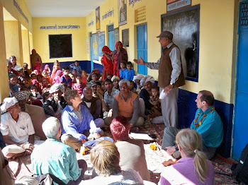 INDIA 2011: Heera introducing the DWC volunteers to the village community