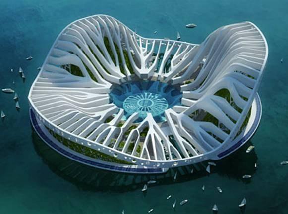 MySansar Lilypad Floating Eco Refugees Architecture