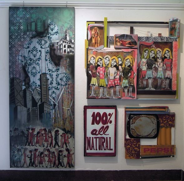 assemblage paintings