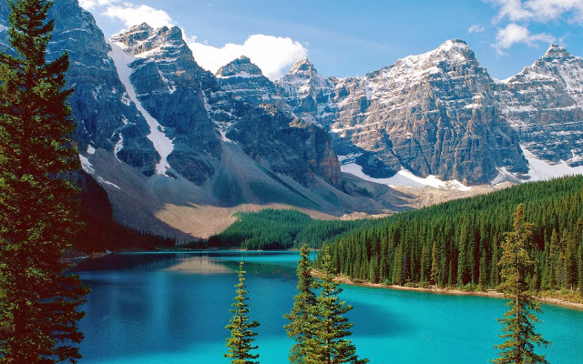 lakes, banff, national, park, Canada, Alberta, Mountains