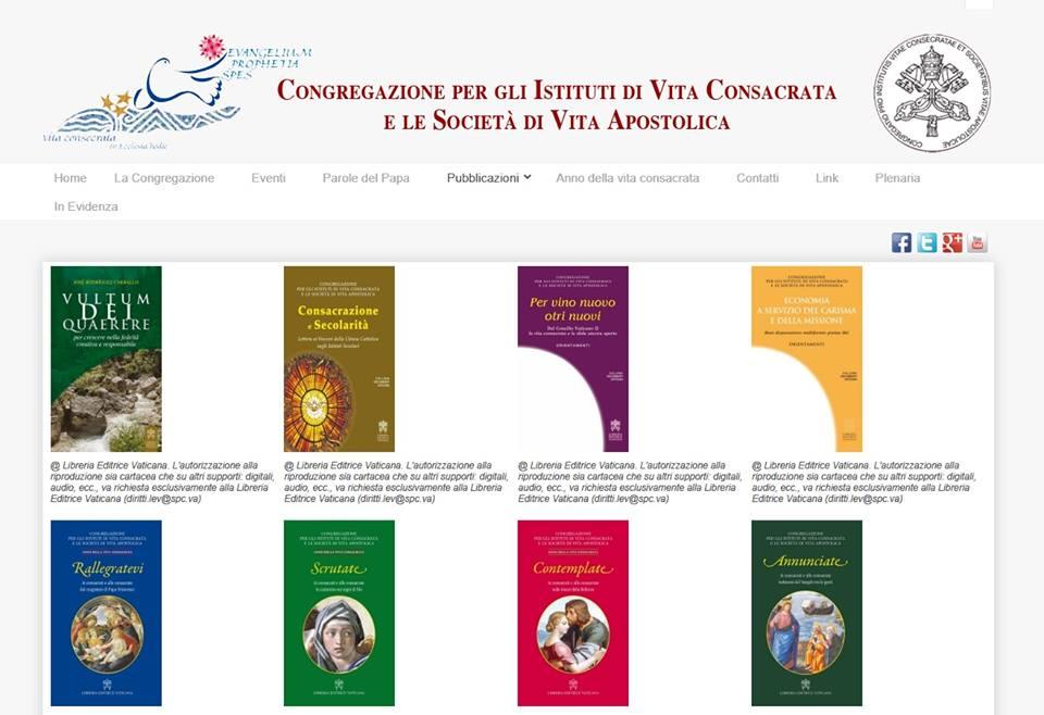 Documenti e le lettere del Dicastero per la Vita consacrata online!