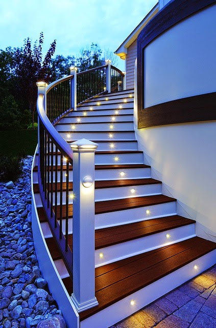 Ideas for lighting stairs, indoor stair lights