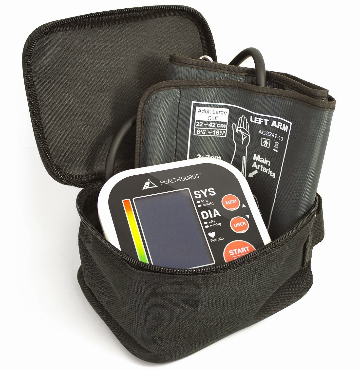 Health Gurus Upper Arm Blood Pressure Monitor