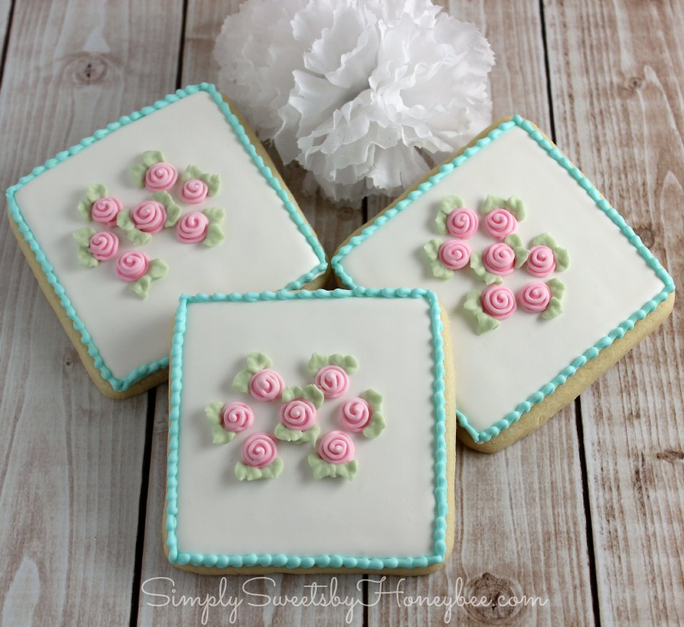 Shabby chic cookies {simply sweet saturdays ...