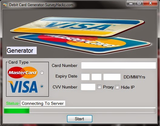 hackz world debit card generator 2014 - Visa Debit Card Money Adder