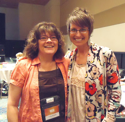 Gayle with Shelli Gardner, Co-Founder and CEO of Stampin' Up!