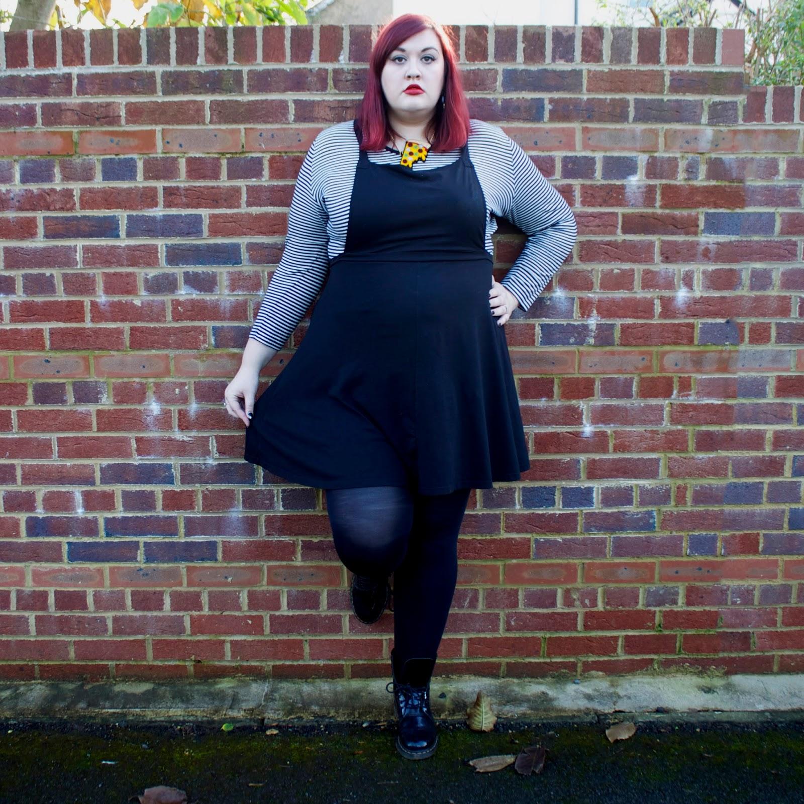 Black Heart Creatives Blog : Kicking it in my ASOS Pinafore Dress